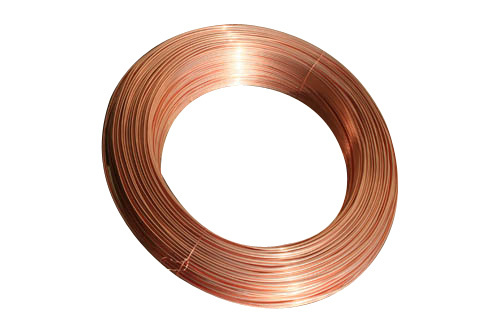 Outside copper coated single wall steel tube